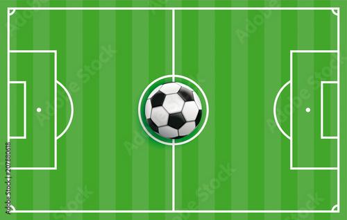 Obraz Grüne Fußball Taktiktafel - fototapety do salonu