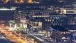 City Walk in Dubai aerial top view from skyscraper timelapse, UAE.