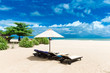 Beautiful beach. Summer holiday and vacation concept background. Tourism and travel