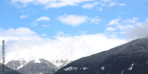 Fotografie, Obraz  mountains in puster valley in northen Italy in winter