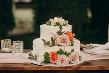 Rustic Wedding Cake On Wedding...