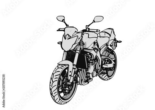 Keuken foto achterwand Motorfiets sketch of a sports car vector.