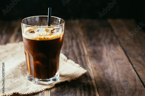 Delicious black iced coffee