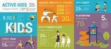 Active Kids Infographics Vecto...