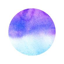 Watercolor Blue,purple Backgro...