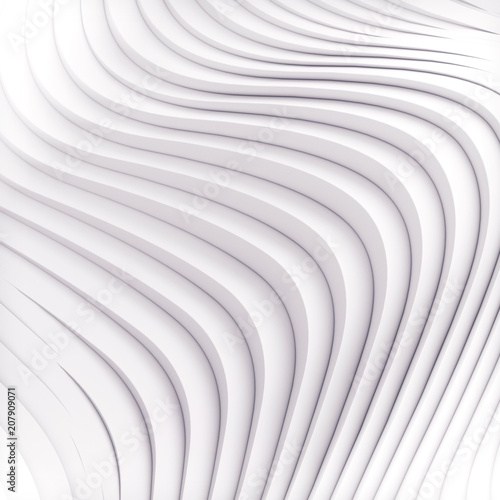 Fotobehang Fractal waves Wave band abstract background surface 3d rendering