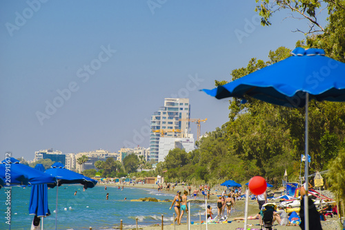 Foto op Plexiglas Cyprus beach area on the island of Cyprus