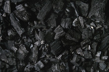 Black Charcoal Texture Abstract Surface Background. Top View