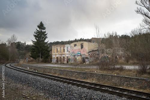 Papiers peints Les vieux bâtiments abandonnés Abandoned Factory, Prague, Czech Republic.