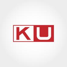 Initial Letter KU Logo Templat...