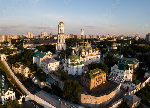 Spoed Foto op Canvas Kiev Aerial view of Kiev Pechersk Lavra, Ukraine