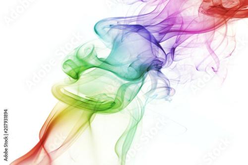 Fototapeta  fumée couleurs arrière-plan abstrait