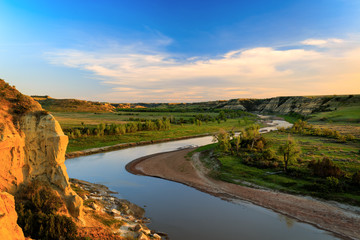 Golden Hour over Wind Canyon in Theodore Roosevelt National Park, North Dakota