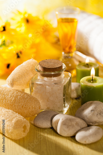 spa massage oil with treaments spa buy this stock photo and