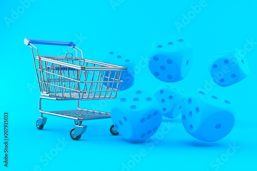 Plakat  Gambling background with shopping cart