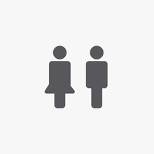 Man And Woman Vector Icon Eps10 Signs And Symbols For Public And Website