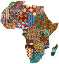 Abstract Africa Patchwork Trad...