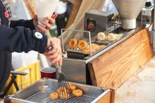 Street Food Market. Vendors At...
