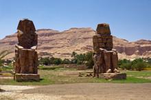 Colossi Of Memnon In Luxor Egypt