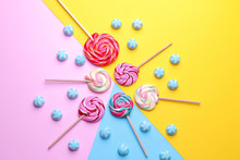 Multicolored Round Candy And C...