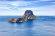 canvas print picture - Ibiza Es Vedra Felsen Insel Spanien Reise Meer Landschaft Ferien Mittelmeer Urlaub