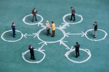Business Miniature In Circle C...