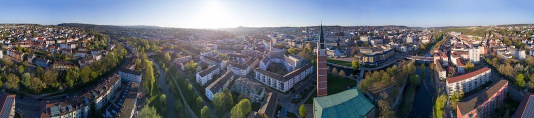 Aerial: Panorama Pforzheim