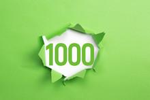 Grüne Nummer 1000 Auf Grünem...