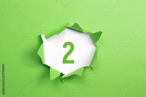 Pinturas sobre lienzo  gruene Nummer 2 auf gruenem Papier