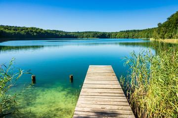 Landschaft am Trünnensee an der Mecklenburger Seenplatte