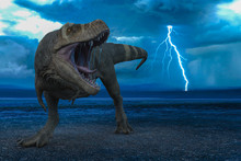 T-rex In The Wild World Storm
