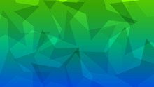 Abstract Background Of Translucent Big Stars In Green And Blue Colors