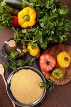 Fresh Ingredients For Tabboule...