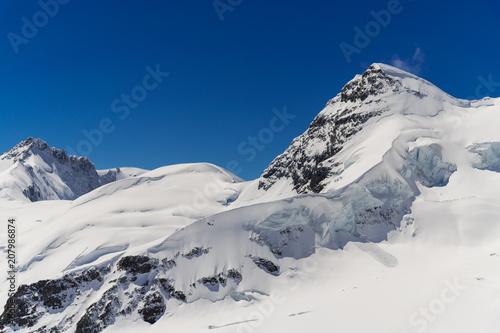 Fotobehang Bergen Glacier at top of jungfraujoch