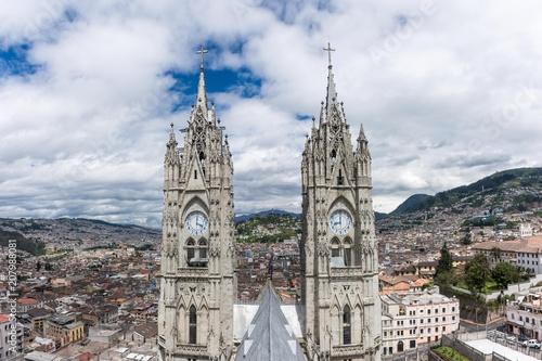 Poster Zuid-Amerika land Basilica del Voto Nacional, Quito, Équateur