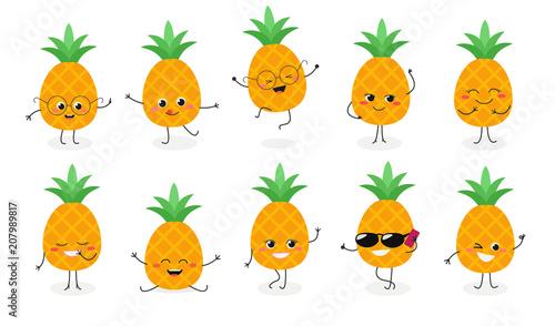 Fotografie, Obraz  Pineapple emoticon №2