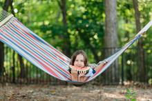 Cute Young Girl Relaxing In A ...