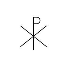 Chi Rho Outline Icon. Element ...
