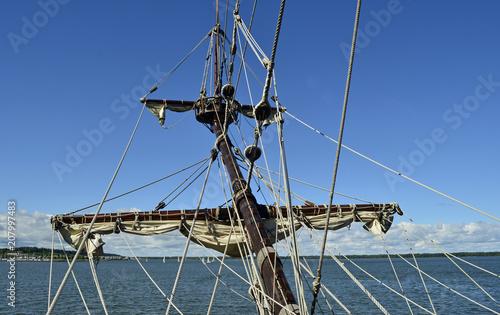 Keuken foto achterwand Schip Tall ship mast
