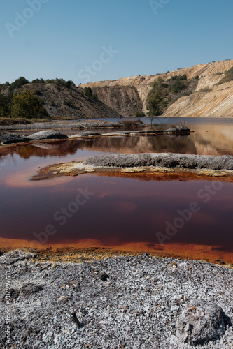 Polluted Environment With Contaminated Lake