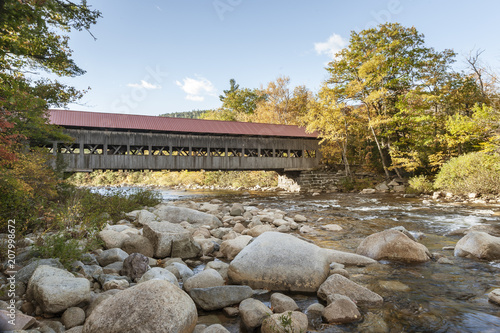 Valokuva  Swift River and Albany Covered Bridge