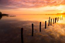 Amazing Golden Sunset On A Lak...
