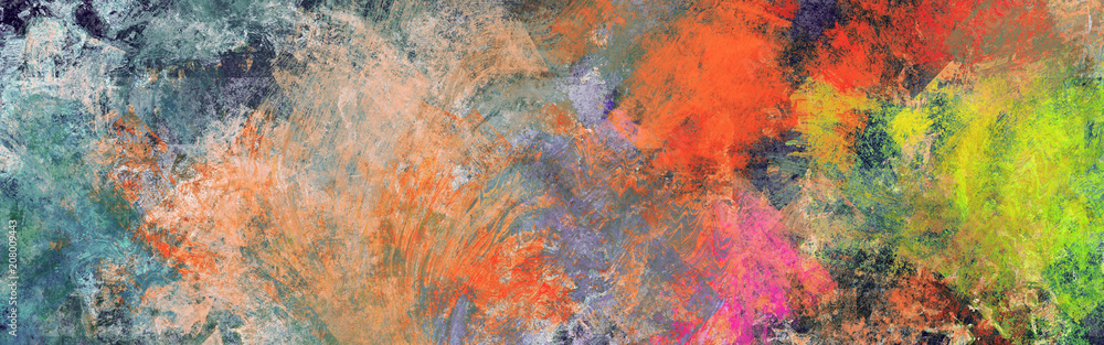 Abstract modern style art, panorama size, extreme hi-resolution