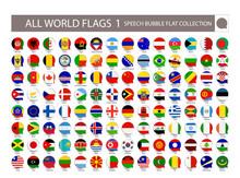 All World Flags Speech Bubble ...