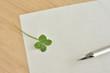 罫線の紙 四つ葉