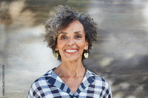 Closeup portrait of African American Senior woman