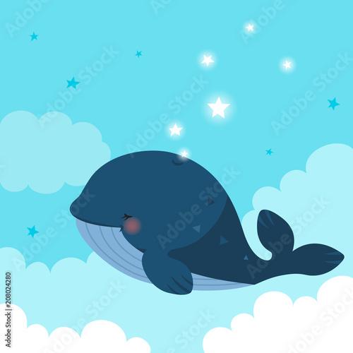 blekitny-wieloryb-z-gwiazdami-na-niebieskim-niebie