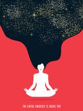 Girl Doing Yoga Meditation For...