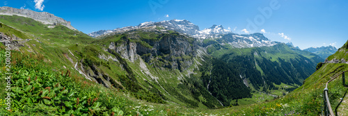 Mountain panorama at Klausenpass