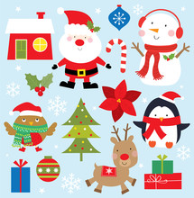 Cute Christmas Icon Collection...